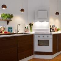 дизайн кухни без верхних навесных шкафов декор
