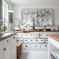 дизайн кухни без верхних навесных шкафов идеи интерьера