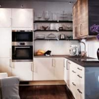 дизайн кухонного гарнитура фото