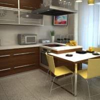 дизайн кухонного гарнитура угловая кухня