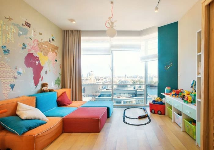 интерьер квартиры с детской