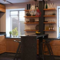 дизайн маленькой кухни фото планировки