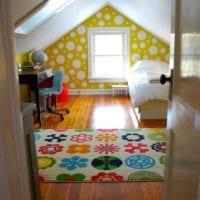 дизайн мансарды в доме детская