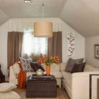 дизайн мансарды в доме спальня фото