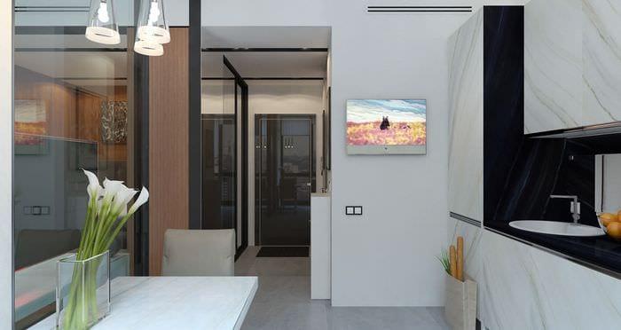дизайн небольшой студии 36 кв