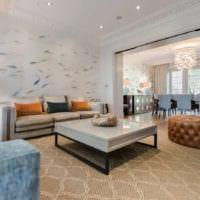 дизайн обоев идеи гостиной