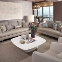 дизайн обоев в гостиной зале
