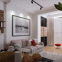 дизайн однокомнатной квартиры 30 кв м фото интерьер