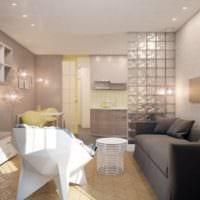 дизайн однокомнатной квартиры 33 м2 интерьер фото