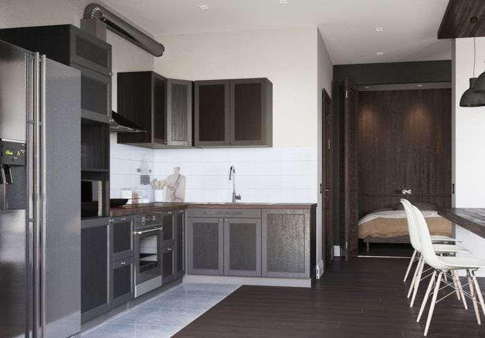 кухня в квартире студии 42 кв м
