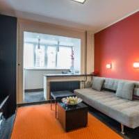 дизайн однокомнатной квартиры 45 кв м фото идеи