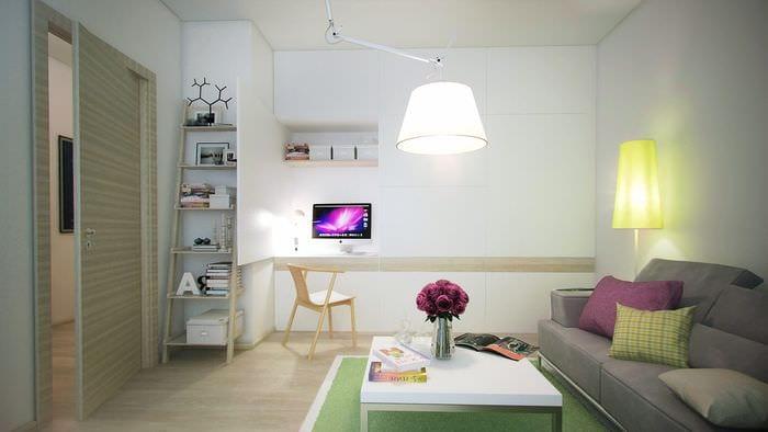 дизайн однокомнатной квартиры 45 кв м