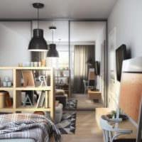 дизайн однокомнатной квартиры площадью 36 м2 идеи