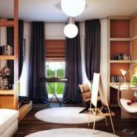 дизайн однокомнатной квартиры с детской идеи