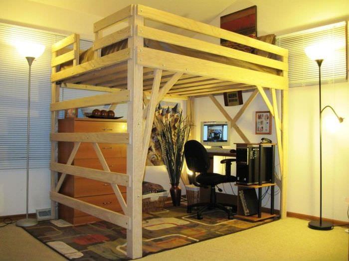 многофункциональная кровать со столом