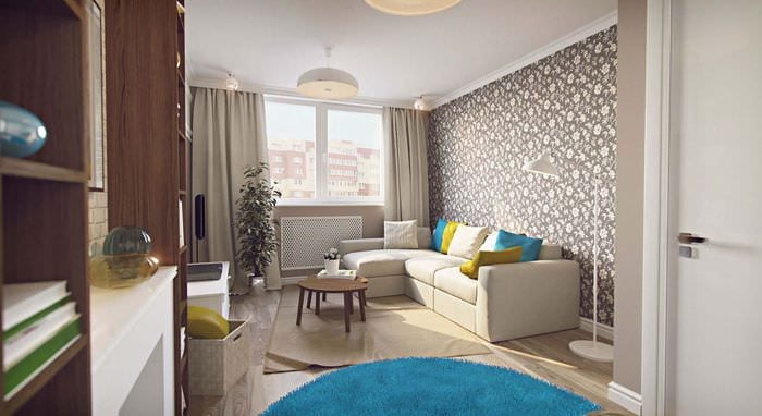 проект однокомнатной квартиры 45 кв м