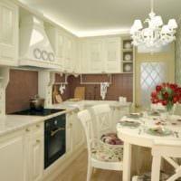 дизайн кухни 6 кв м прованс