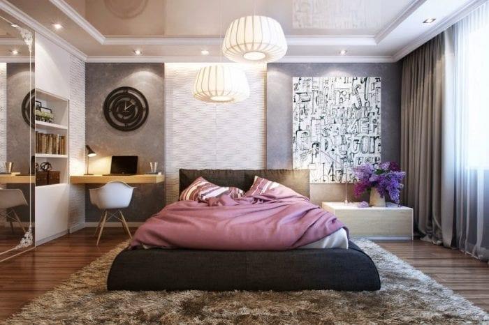 дизайн освещения в спальне