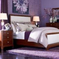 дизайн маленькой спальни сиреневый