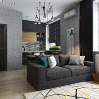 дизайн однокомнатной квартиры со спальней фото