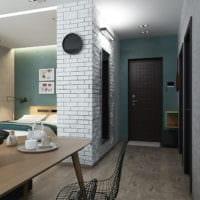 дизайн студии 36 кв м со спальней фото идеи