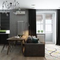 дизайн студии 36 кв м со спальней проект