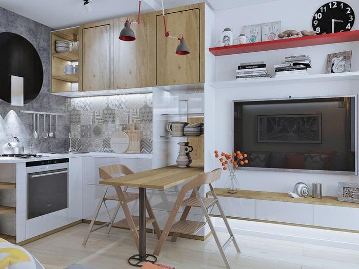 кухня в квартире 30 кв метров