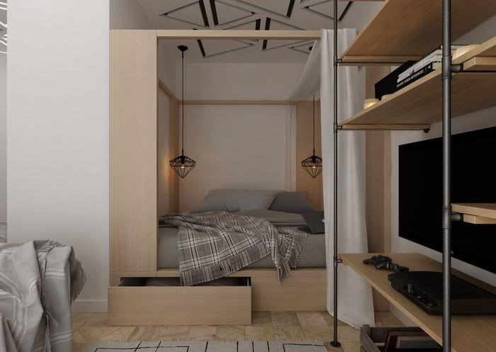 спальня в квартире 30 кв м