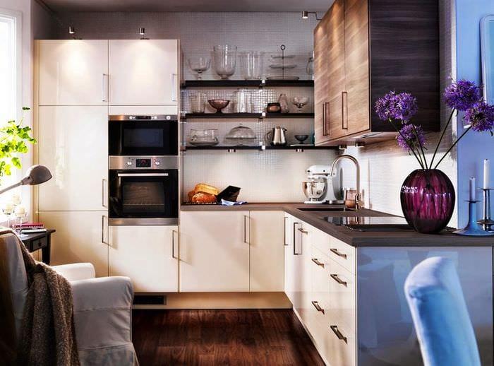 дизайн кухни 6 кв м гарнитур