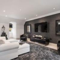 гостиная дизайн обоев