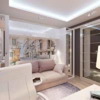гостиная спальня в однокомнатной квартире 45 м2