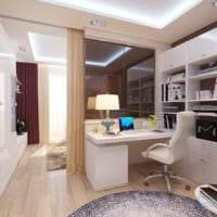 гостиная спальня в однокомнатной квартире 45 м2 фото