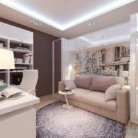 гостиная спальня в однокомнатной квартире 45 м2 идеи