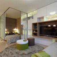 интерьер однокомнатной квартиры со спальней 36 кв м фото