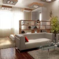 дизайн однокомнатной квартиры с детской варианты
