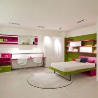 дизайн однокомнатной квартиры с детской фото идеи