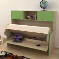 дизайн однокомнатной квартиры с детской фото мебели