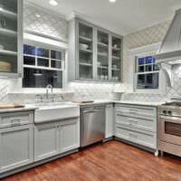 кафель в интерьере кухни