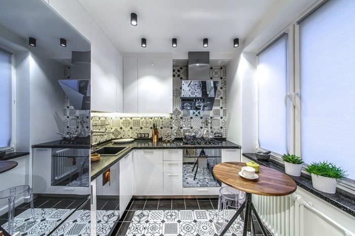плитка на кухонном полу