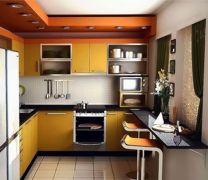 как обустроить небольшую кухню