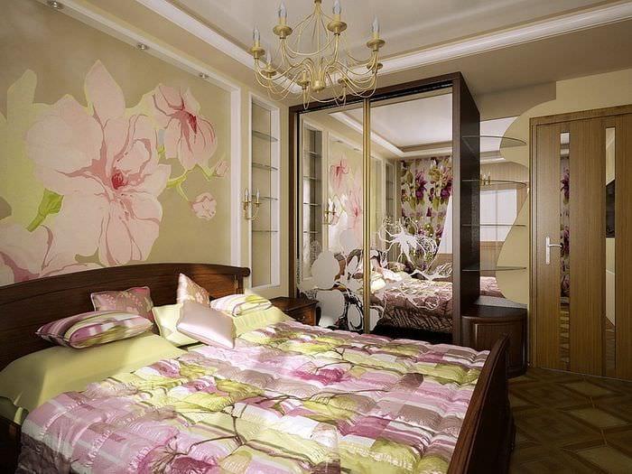 цветочный дизайн спальни
