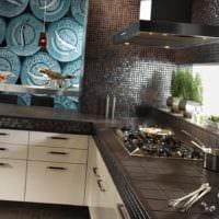 кухня без верхних шкафов фото декор
