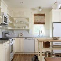 кухня без верхних шкафов фото дизайна