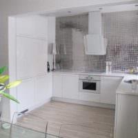 кухня без верхних шкафов фото интерьера