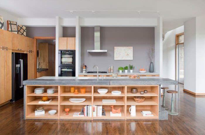 идеи дизайна кухни без шкафов