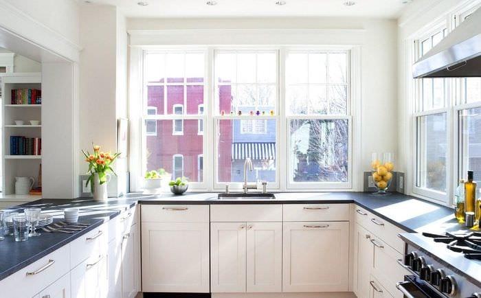 планировка кухни без верхних шкафов