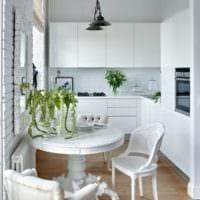 кухня в хрущевке белая