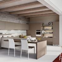кухня в бежевом цвете фото