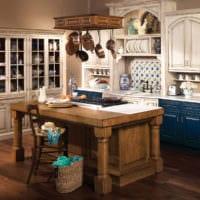 кухня в стиле кантри дизайн