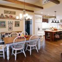 кухня в стиле кантри дома